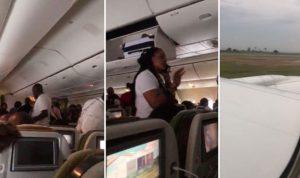 بالفيديو: الاغتراب اللبناني في افريقيا ينجو من حريق طائرة