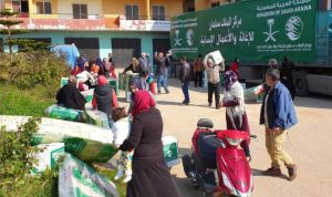 مساعدات إغاثية سعودية للنازحين في عكار