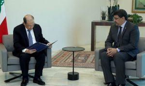 رسالة من الرئيس الموريتاني الى عون