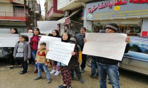 اعتصام لأصحاب المحال في بعلبك