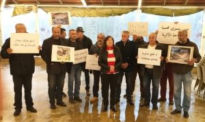 اعتصام في بسري مطالبةً بوقف إنشاء السد