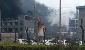 بالفيديو والصور: انفجار ضخم يهز منشأة للصناعات الكيميائية في الصين