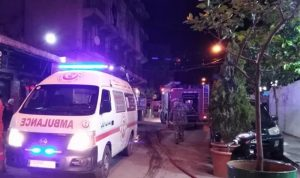 إصابة إمرأة بحالة اختناق جراء حريق داخل منزل