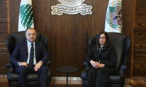 بو صعب بحث السفيرة القبرصية تعزيز التعاون
