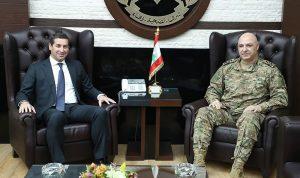 قائد الجيش بحث مع المعلوف في الأوضاع العامة