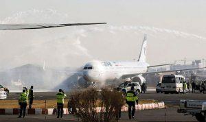 حريق يندلع في طائرة إيرانية لهذا السبب.. وهلع بين الركاب