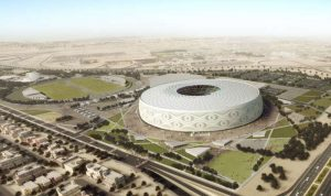 حريق بأحد ملاعب كأس العالم في قطر