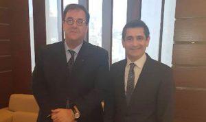 قيومجيان بحث مع السفير الفرنسي سبل التعاون