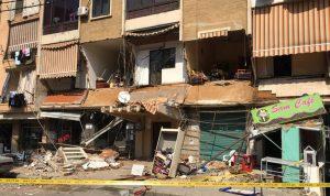 بالصور: انهيار جزئي لمبنى في سن الفيل – النبعة