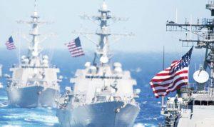 السفن الروسية تدمر حاملة طائرات أميركية!