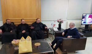 فنيانوس بحث مع رئيس دير مار مارون-المعوش إنماء الشوف