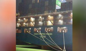 سفينة صينية أفرغت 1200 حاوية نمطية بمرفأ طرابلس