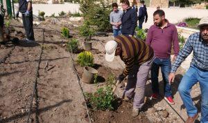 زراعة 1500 نبتة لتزيين مدخل بعلبك ومحيط قلعتها الأثرية