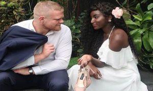 بالصور والفيديو: السعودية عبير سندر تتزوج من مدرب بريطاني