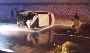 جريحان في حادث سير على أوتوستراد جونية