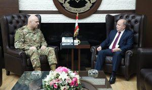 قائد الجيش بحث مع الأسمر في الأوضاع العامة