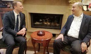 خضر بحث مع السفير التركي مشاكل بعلبك-الهرمل