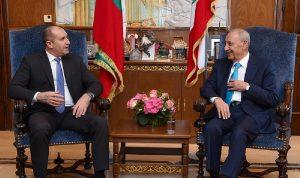 بري بحث ملفات اقتصادية وسياسية مع الرئيس البلغاري