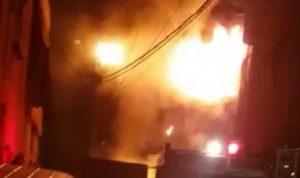 حريق في مبنى سكني بحارة حريك