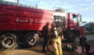 بالصور- اخماد حريق في شامات