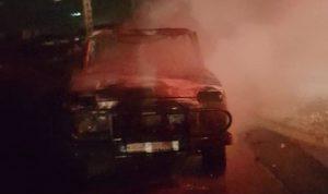 حريق سيارة في مزرعة الشوف