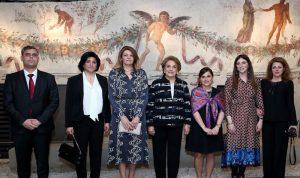 اللبنانية الاولى مع نظيرتها البلغارية في المتحف الوطني