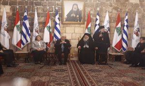 الرئيس اليوناني زار دير البلمند ويازجي قلده وسام القديسين