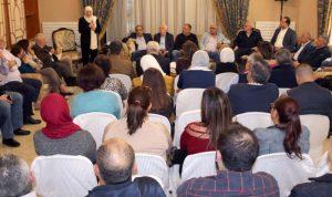 الحريري تلتقي القطاعات الصيداوية لتقييمها كنائبة