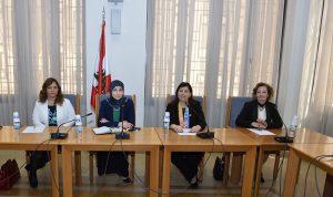 عز الدين عرضت مع وفد إسباني واقع المرأة في لبنان