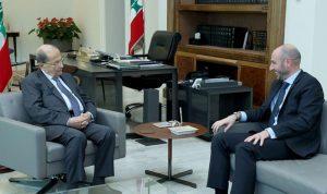 عون تابع مع وزير البيئة خطة الوزارة بشأن النفايات