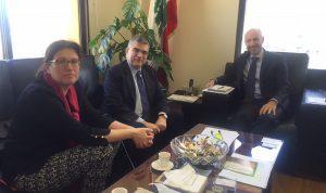 جريصاتي عرض لتفعيل التعاون والدعم من UNDP