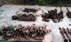 العثور على كمية كبيرة من الأسلحة والذخائر في سينيق-صيدا (صور)