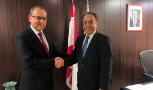 بطيش بحث مع سفير مصر في العلاقات المشتركة