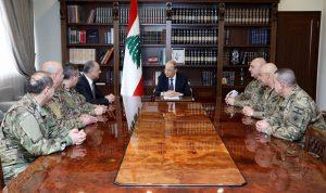 عون التقى الأعضاء الجدد في المجلس العسكري