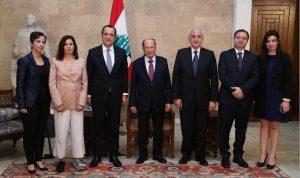 عون: للمساعدة على اعادة النازحين الى المناطق الآمنة في سوريا