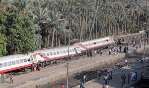 انحراف قطار عن مساره ووقوع إصابات في مصر
