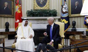 ترامب بحث مع محمد بن زايد الشأن الإيراني