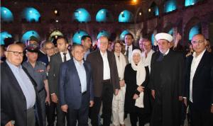 سلام والسنيورة جالا في صيدا القديمة بدعوة من بهية الحريري