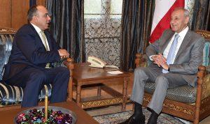بري عرض الأوضاع مع نائب رئيس مجلس النواب الأردني