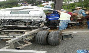 بالصور- جريحان بحادث سير على طريق عام جعيتا