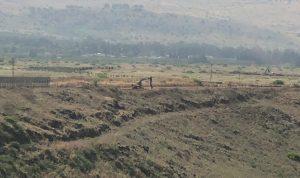أعمال جرف اسرائيلية في الطرف الغربي للغجر المحتلة