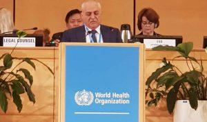 جبق امام منظمة الصحة العالمية: لمساعدة النازحين على العودة