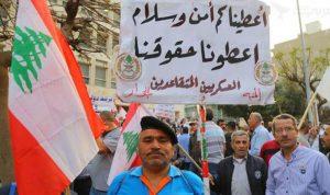 العسكريون المتقاعدون افترشوا طريق القصر الجمهوري