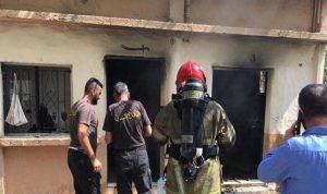 حريق بمنزل في صور