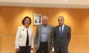وصول وزير الخارجية الاسباني الى لبنان