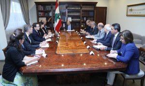 عون: لتقدم الامم المتحدة مساعداتها للنازحين داخل سوريا