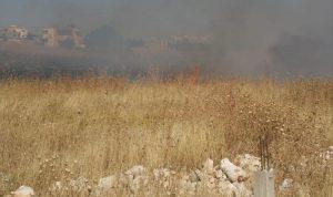 حريق كبير بين ميس الجبل وحولا