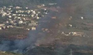 اطفاء الحريق في مكب النفايات التابع لبلدة شقرا