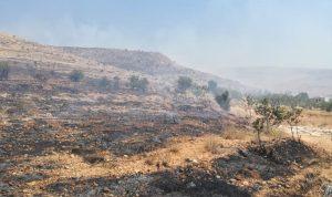 السيطرة على حريق في جرود بلدة مقراق- بعلبك