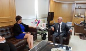 سفيرة كندا أبلغت فنيانوس استعداد شركات بلادها لدخول لبنان